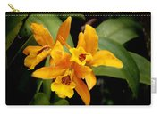 Orange Spotted Lip Cattleya Orchid Carry-all Pouch by Rudy Umans
