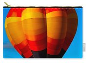 Orange Stipped Hot Air Balloon Carry-all Pouch
