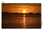 Orange Sun On The Horizon Carry-all Pouch