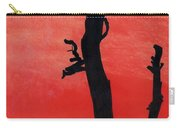 Orange Sunset Silhouette Tree Carry-all Pouch