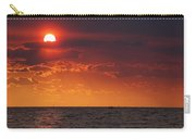 Orange Sunset Over Oyster Bay Carry-all Pouch