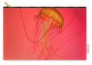 Orange Swimming Jellyfish Carry-all Pouch