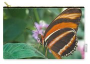 Orange Tiger Or Banded Orange Butterfly Carry-all Pouch