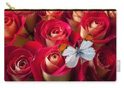 Orange Tip Butterfly Carry-all Pouch