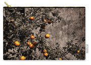 Orange Tree On Rustic Background Carry-all Pouch