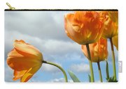Orange Tulip Flowers Art Prints Tulips Floral Carry-all Pouch
