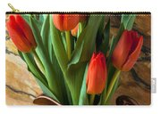Orange Tulips In Copper Pitcher Carry-all Pouch
