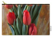 Orange Tulips In Yellow Pitcher Carry-all Pouch by Garry Gay