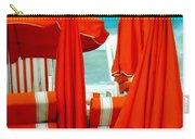 Orange Umbrellas Carry-all Pouch