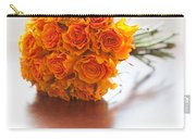 Orange Wedding Bouquet Roses Carry-all Pouch