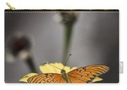 Orange Winged Butterfly Carry-all Pouch