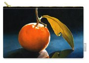 Orange With Leaf Carry-all Pouch