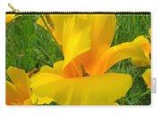 Orange Yellow Poppy Flower Art Print Carry-all Pouch