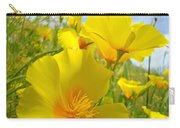 Orange Yellow Poppy Flowers Meadow Art Carry-all Pouch