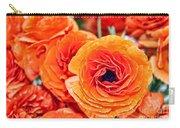 Orange You Happy Ranunculus Flowers By Diana Sainz Carry-all Pouch