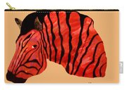 Orange Zebra Carry-all Pouch