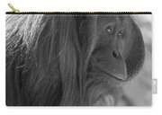 Orangutan Black And White Carry-all Pouch