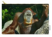 Orangutan Scratches With Stick Carry-all Pouch