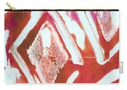 Orchid Diamonds- Abstract Painting Carry-all Pouch by Linda Woods