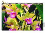 Orchid Flower Bunch Carry-all Pouch