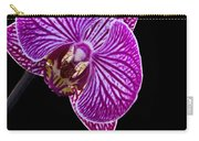 Orchid On Black Background Carry-all Pouch