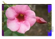 Orchid Pink Flower Photographed At Costa Rica Sensual Smile Graphic Dital Painted Background Ideal Carry-all Pouch