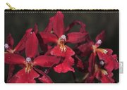 Orchid Red Burrageara Living Fire  Glowing Ember Carry-all Pouch