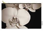 Orchid Trio Sepia Carry-all Pouch