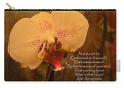 Orchid With Verse Carry-all Pouch