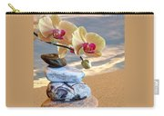 Orchids And Pebbles On Sand Carry-all Pouch