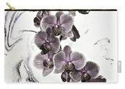 Orchids And Suminagashi Carry-all Pouch
