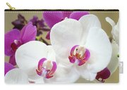 Orchids Floral Art Prints White Pink Orchid Flowers Carry-all Pouch