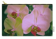 Orchids In Pink And Green Carry-all Pouch