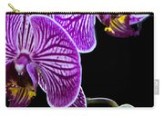 Orchids On Black Background Carry-all Pouch