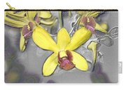 Orchids With Oil Slick Pattern Carry-all Pouch