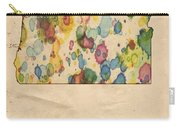 Oregon Map Vintage Watercolor Carry-all Pouch
