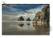 Oregon Sea Stack Reflections Carry-all Pouch by Adam Jewell