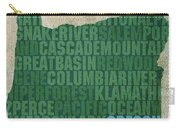 Oregon Word Art State Map On Canvas Carry-all Pouch