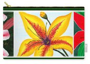 Oriental Daylily Trio Carry-all Pouch