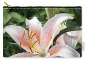 Oriental Hybrid Lily In White Peach And Pink  Carry-all Pouch