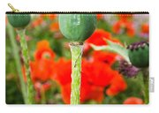 Oriental Poppy Seed Pod Carry-all Pouch