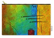 Original Abstract Painting Digital Conversion For Textured Effect Resonating IIi By Madart Carry-all Pouch
