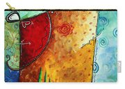 Original Abstract Pop Art Style Colorful Landscape Painting Home To Tuscany By Megan Duncanson Carry-all Pouch