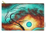 Original Bold Colorful Abstract Landscape Painting Family Joy I By Madart Carry-all Pouch