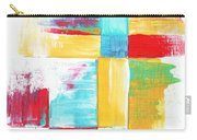 Original Bold Colorful Abstract Painting Patchwork By Madart Carry-all Pouch by Megan Duncanson
