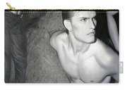 original Oil painting gay man body male nude art on canvas-201 Carry-all Pouch