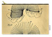 Original Slinky Toy Patent Carry-all Pouch