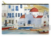 Watercolor - Mykonos Greece Detail Carry-all Pouch