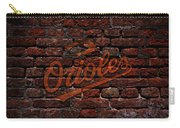 Orioles Baseball Graffiti On Brick  Carry-all Pouch