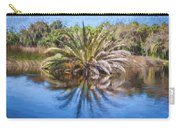 Ormond Scenic Loop Florida Palm Tree Painted  Carry-all Pouch